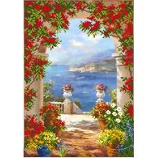 Цветы средиземноморья Рисунок на шелке 37/49 37х49 (27х38) Матренин Посад 4156