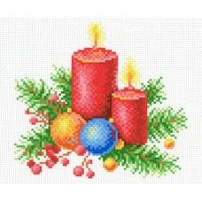 Новогоднее тепло Рисунок на канве 30х21см 16х14(30х21) МП-Студия СК-003
