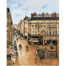 Набор Улица Сент-Оноре по мотивам картины К.Писсаро  вышивка