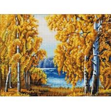 Янтарный лес (рис. на сатене 29х39) 29х39 Конек 9970