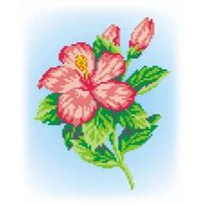 Розовый цветок набор