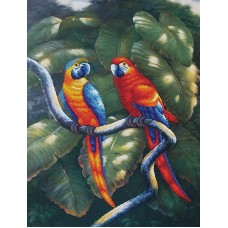 Набор Краски джунглей 33,5х47,5 Магия канвы Б-011
