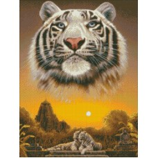 Царь джунглей набор для выкладывания стразами 45х60 Паутинка М-347