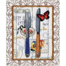 Набор Стильная кухня. Вилка и нож 20х16 Золотое руно РТ-093