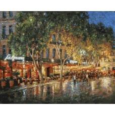 Ночные улицы Рима  живопись на холсте 40*50см 40х50 Белоснежка 203-AB