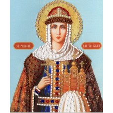 Набор Икона Святой Равноапостольной Княгини Ольги 15х12,5 Золотое руно РТ-127