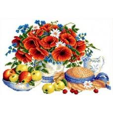 Набор Летние дары канва с рисунком 23х30 Каролинка КТКН 144 (Р)