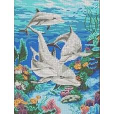 Морская идиллия Рисунок на канве 23х30 Каролинка КК 004