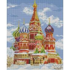 Храм Василия Блаженного Мозаика на подрамнике 40х50 40х50 Белоснежка 141-ST-S