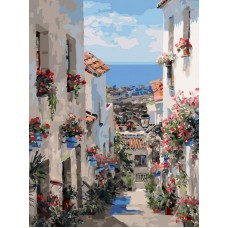 Испания. Михас живопись на картоне 30*40см 30х40 Белоснежка 3251-CS
