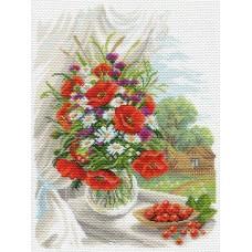 Полевые цветы Рисунок на канве 37/49 37х49 (29х39) Матренин Посад 1687