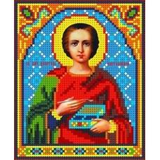 Набор Святой Пантелеймон бисер 13х15,5 Каролинка КБИН(Ч) 5072