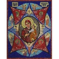 Богородица Неопалимая Купина набор для выкладывания стразами 28х22 Преобрана 62