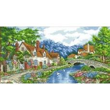 Набор Альпийский городок канва с рисунком 28х47 Каролинка КТКН 122 (Р)