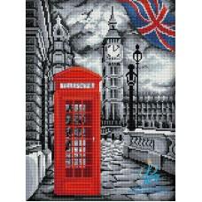 В Лондоне Набор для выкладывания стразами 30х40 Алмазная живопись АЖ-1669