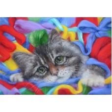 Котик живопись на холсте 40х50 40х50 Paintboy GX21625