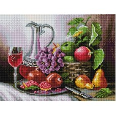 Натюрморт с фруктами Мозаика на подрамнике 30х40 30х40 Белоснежка 511-ST-S