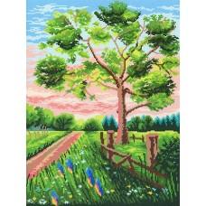 Чарующий пейзаж Рисунок на канве 40х50см