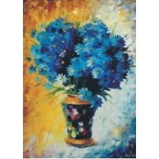 Синие ромашки набор для выкладывания стразами 50х69 Jing Cai Ge Diamond Painting DIY (Honey Home) 1020