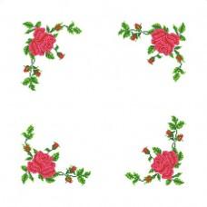 Набор Розы салфетка 45х45 Каролинка ККСН(хб)-004