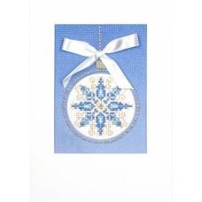 Снежный узор Набор для создания открытки 20х22 (13х16) Матренин Посад 8324
