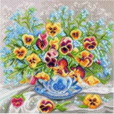 Чаша виолы Набор для вышивания крестом 41х41 (34х34) Матренин Посад 1766/Н