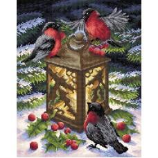 Тепло зимы Набор для выкладывания стразами 38х48 Brilliart МС-019
