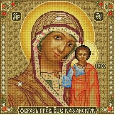 Икона Божией матери Казанская Мозаика на подрамнике 40х40