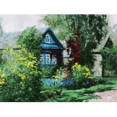 Домик в деревне живопись на холсте 30*40см 30х40 Белоснежка 091-AS