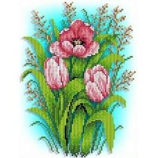 Тюльпаны Рисунок на ткани 18,5х24,5 Каролинка ТКБЦ 4025