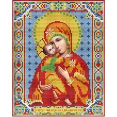 Икона Владимирская Богородица набор для частичной  выкладки стра 22х28 Алмазная живопись АЖ-2007