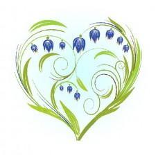Колокольчики-сердце Набор для вышивания лентами 28х34 (15х15) Матренин Посад 7027/Л