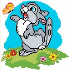 Набор Зайчонок канва с рисунком 15х15 Каролинка КТКН 007 (Р)