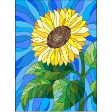 Цветок солнца Набор для вышивки гладью 28х34 (14х16) Матренин Посад 5524/ГЛ