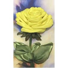 Набор Желтая роза вышивка лентами