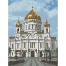 Храм Христа Спасителя Рисунок на канве 23х30 Каролинка КК 024