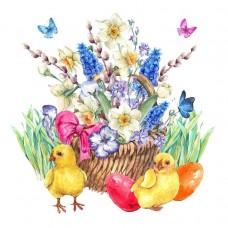 Пасхальные цыплята Набор для вышивания бисером 41х41 (28х28) Матренин Посад 0171/Б