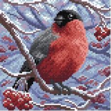 Снегирь Набор для выкладывания стразами 20х20 Brilliart МС-002