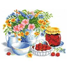 Вишневое варенье Рисунок на канве 23х30 Каролинка КК 053