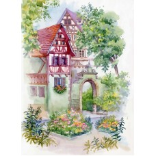 Райский сад Набор для вышивания лентами 37х49 (18х29) Матренин Посад 7039/Л