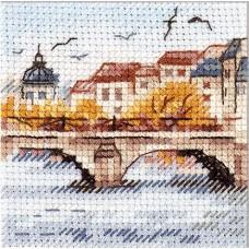 Набор Осень в городе. Чайки над мостом