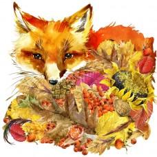 Осенний лис Набор для вышивания бисером 28х34 (23х24) Матренин Посад 0136/Б