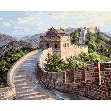 Великая Китайская стена  живопись на холсте 40*50см 40х50 Белоснежка 195-AB