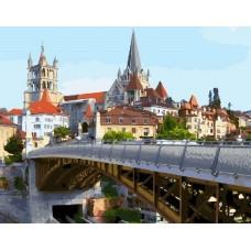 Мост в Праге живопись на холсте 40х50см