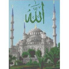 Голубая мечеть Рисунок на канве 23х30 Каролинка КК 047