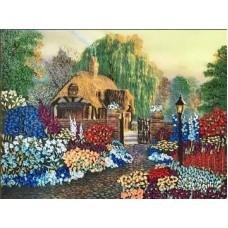 Набор Цветы у дома вышивка лентами 25,5х35 Каролинка КЛ(Н)-3005