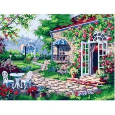 Терраса живопись на холсте 30*40см 30х40 Белоснежка 161-AS
