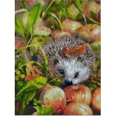 Яблочный ёжик живопись на картоне 30*40см 30х40 Белоснежка 3140-CS