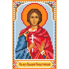 Святой Валерий Рисунок на шелке 22/25 22х25 (9х14) Матренин Посад 3051