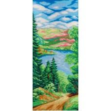 Лес и река набор для вышивания бисером 50х19 МП-Студия БК-244